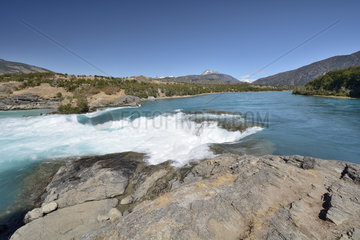 Rio Baker at the confluence with Rio Nef  near Cochrane  XI Region of Aysen  Chile