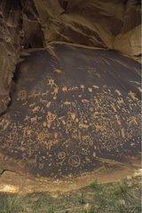 Rupestral carving at Newspaper Rock Utah USA