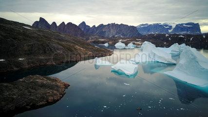 Kayaks and Icebergs  Bear's Archipelago  East Coast Greenland