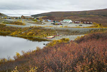 Tangle lake (mile 21)  Denali Highway: from Paxson to Cantwell  Alaska  USA