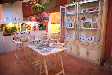 Pottery shop  Martine Gilles and Jaap Wieman  Village of Brantes  Provence  France