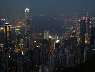 Hong Kong  le centre ville de nuit