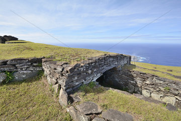 Orongo Site  Stone Village and Ceremonial Center  Easter Island  Chile