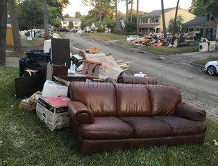 Harvey hurricane effect  Houston  Texas  USA - August / September 2017