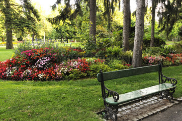 The Jardin Anglais  Vesoul  Haute-Saone  France