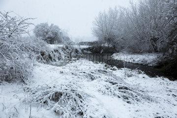 River Thame  Chearsley  Buckinghamshire