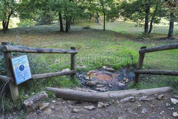 Gallo-Roman saline source of Bard  Valley of the Saints  Sentier des Chimneys of Fairy  Auvergne  France