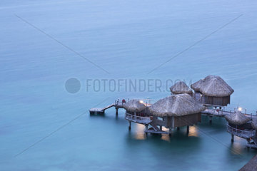 Bungalow on stilts of the Sofitel Hotel  Bora Bora  Society Islands  Leeward Islands  French Polynesia