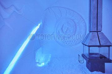 Iced suite  Ice Hotel  Quebec  Canada