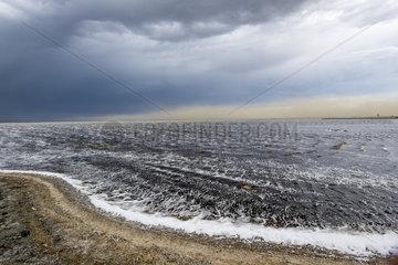 Soda ash deposit  Lake Magadi  Kenya