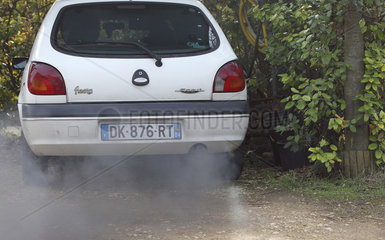 Exhaust gas from a diesel engine  France