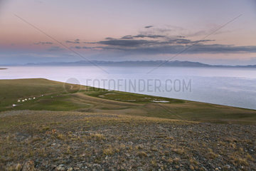 Song Kol Lake and Yurt Camp  Kyrgyzstan