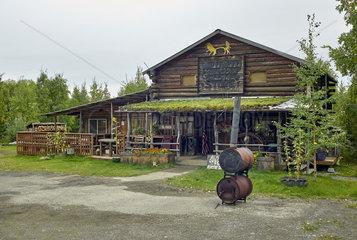 Dalton Highway : from Fairbanks to Prudhoe Bay  (mile 115) A arctic circle  Alaska  USA