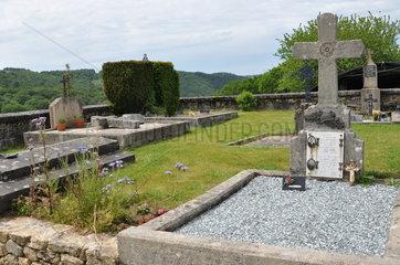 Organic cemetery of Saint Bonnet les tours de Merle - France
