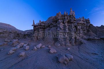 Eroded Sculptures  Fantasy Canyon  Vernal  Utah  Usa