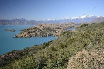 Lago General Carrera  surroundings Puerto Rio Tranquilo  XI Region of Aysen  Chile