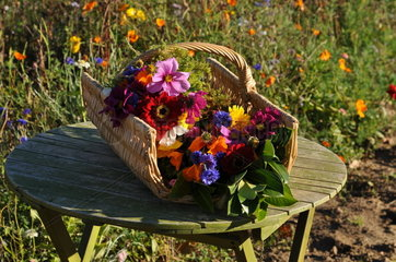 Ecological Funeral  Bouquet for an interment  France