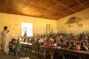 Pupils at the school in Country Dogon Mali