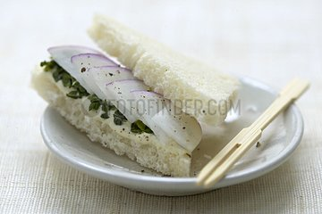 Tea Sandwich with turnip with mint France