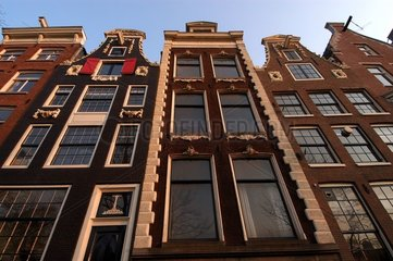Façade d'immeubles Amsterdam Pays-Bas