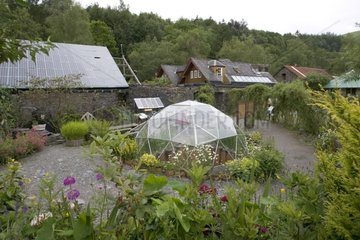 Low energy house and photovoltaic roof Wales