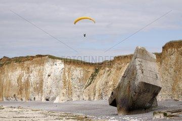 Paragliding blochkaus in Sainte-Marguerite-sur-Mer