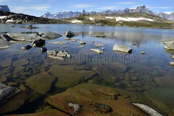 Mountain lake  Bear's Archipelago  East Coast Greenland