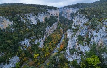 Foz de Arbayún  Salazar River  Navarra  Spain  Europe