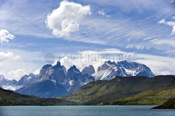 Lake and mountain Torres del Paine NP Chilean Patagonia