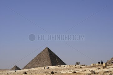 Menkaure's Pyramid in Giza site Egypt