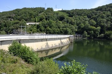 Enchanet Dam on the Maronne River  Cantal  Auvergne  France