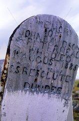 Tombe d'un baleinier écossais au port de Dundee
