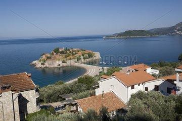 Peninsula of Sveti Stefan in Montenegro