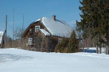 Farm at the border of Estonia Latvia