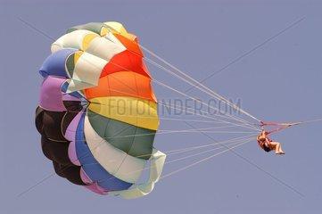 Parachute ascencionnel Plage touristique Kemer Turquie