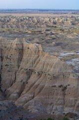 Landscape before sunrise Badlands NP South Dakota USA