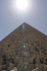 Top of the Great Khufu's Pyramid in Giza Egypt