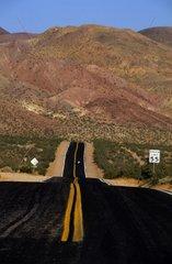 US Route 66 in a desert landscape California USA