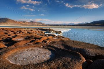 Piedras Rojas Lagoon  Landscapes of desert  Atacama Desert  Chile