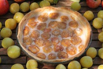 Tart with plums 'Reine-Claude' Kitchen garden of Suzanne