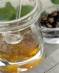 Gelée de thé Mogador et sorbet citron