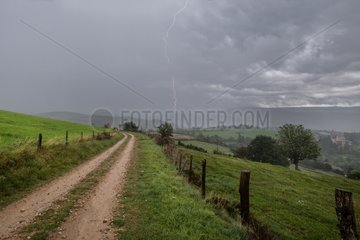Rain storm on the Massif Central - France