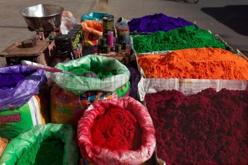 Colors stall for the festival of Holi - Rajasthan India