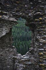 Ruin on the Stevenson trail in the Cévennes France