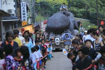 Feast of the Japanese Giant Salamander in Japan Yubara