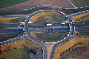 Exchanger road on the A1 motorway - Picardy France