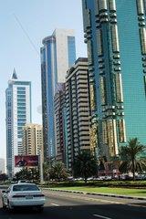 Rue dans Dubai Emirats Arabes