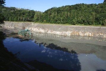Chasses du rhône au barrage de Génissiat Ain France