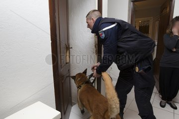 Search narcotic during a house search - France