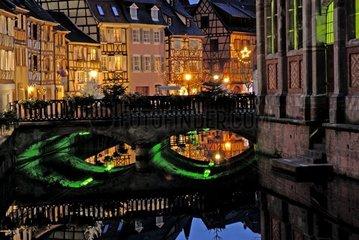 Christmas lights in Colmar Haut-Rhin France